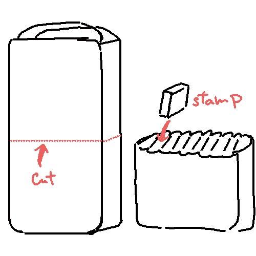 おむつへのスタンプ方法