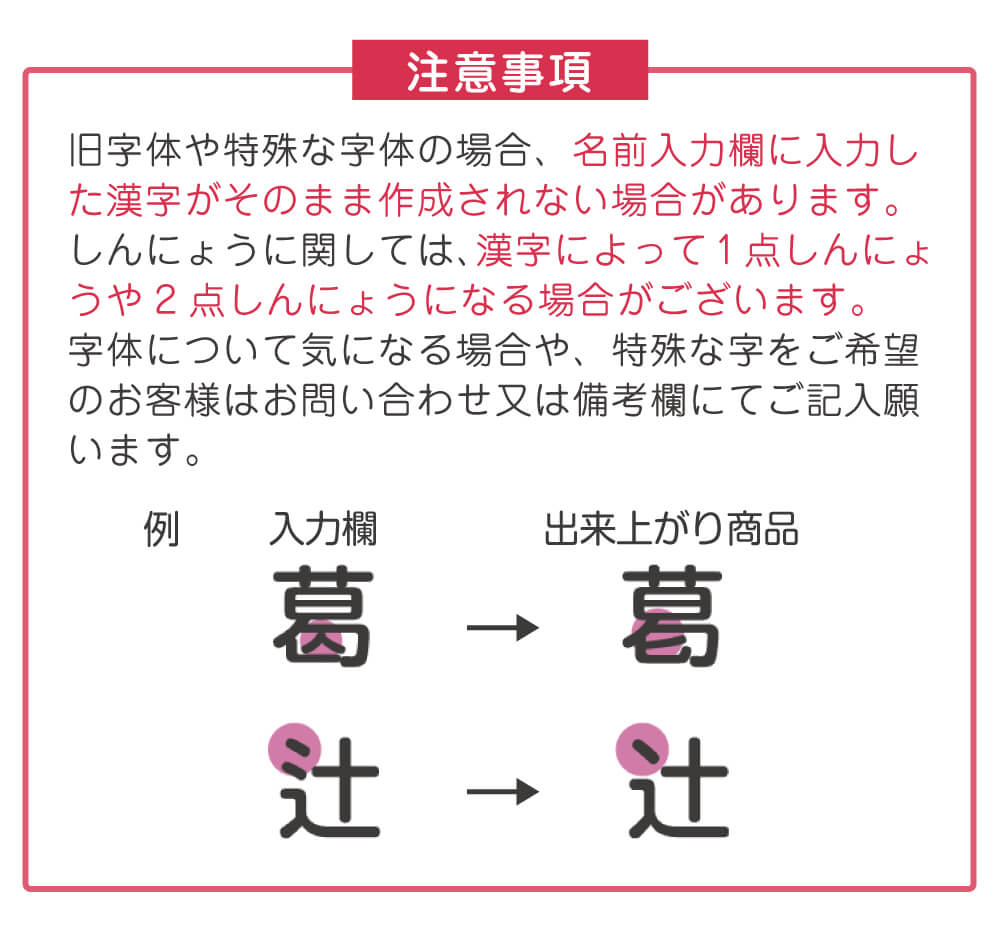 旧字体・異体字にも対応1