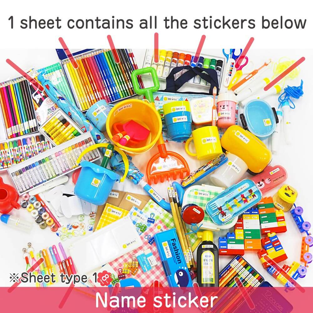1 sheet contains all the stickers below