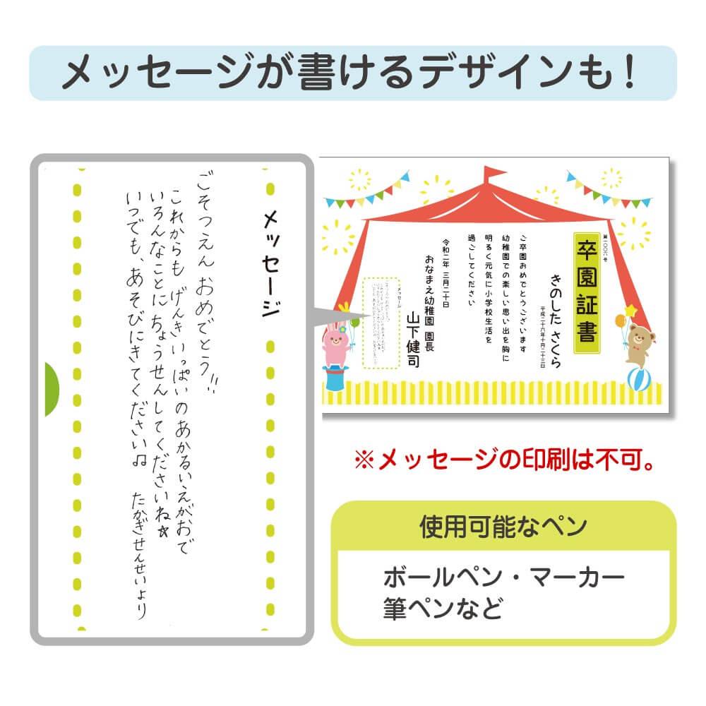 作成内容の詳細(メッセージ欄)
